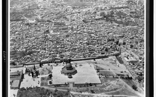 aerial view of Dome of the Rock