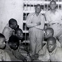 A black and white image of the Scottsboro Boys