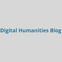 "A grey box with the text ""Digital Humanities Blog"" in it"