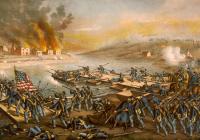 Battle of Fredericksburg painting