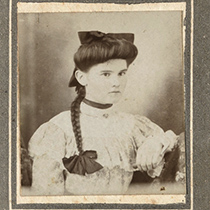 A young woman from the Victorian era in a portrait