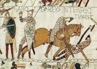 Bayeux Tapestry featuring the death of King Harold